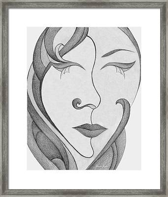 Unnamed Sketch 01 Framed Print by Joanna Pregon