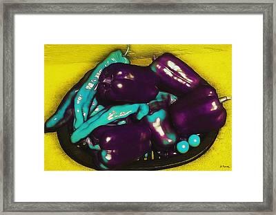 Unnatural Pepper Varieties Framed Print by Shawna Rowe