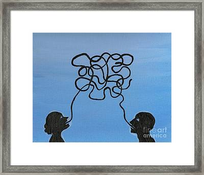 Unnecessary Chatter Framed Print by Margaryta Yermolayeva