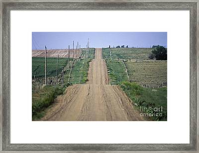 Unpaved Country Road In South Dakota Framed Print by Will & Deni McIntyre