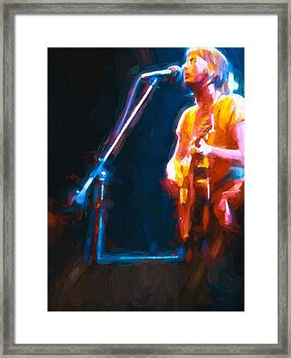 Framed Print featuring the painting Unplugged by Bob Orsillo