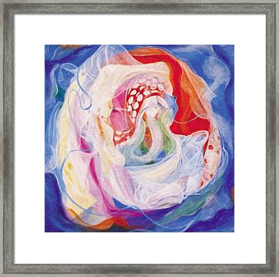 Unraveling The Veils Framed Print by Anne Cameron Cutri