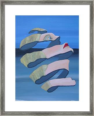Framed Print featuring the painting Unravelling 3 by Eric Kempson