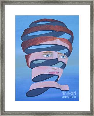 Framed Print featuring the painting Unravelling Inspired By Escher by Eric Kempson