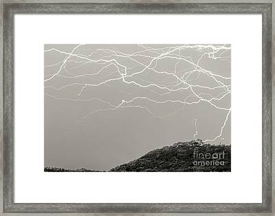 Unreal Lightning Framed Print