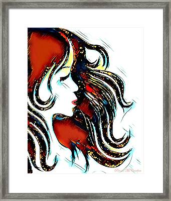 Framed Print featuring the digital art Unrestricted-abstract by Pennie McCracken