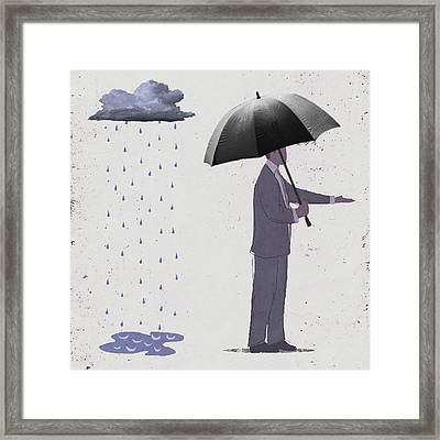 Unseen Storm Framed Print by Steve Dininno