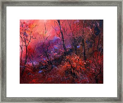 Unset In The Wood Framed Print by Pol Ledent