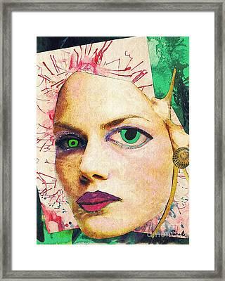 Unsettling Gaze Framed Print by Sarah Loft