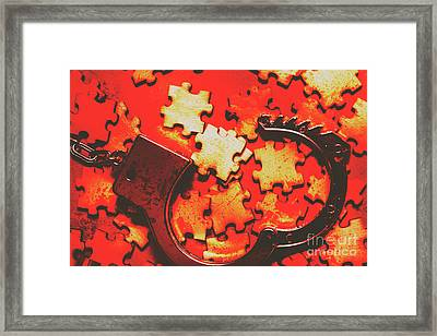 Unsolved Crime Framed Print by Jorgo Photography - Wall Art Gallery