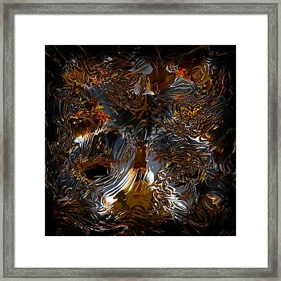 Framed Print featuring the digital art Unsong by Vadim Epstein