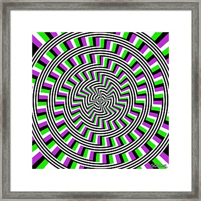 Self-moving Unspiral Framed Print