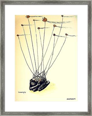 Unsuccessful Attempt To Raise High Flights Framed Print by Paulo Zerbato