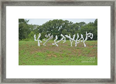 Unt Designed Modern Art Framed Print by Ruth Housley