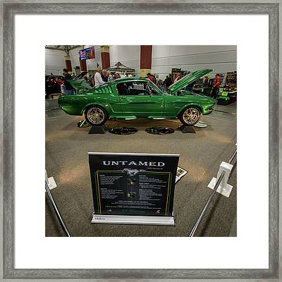 Framed Print featuring the photograph Untamed by Randy Scherkenbach