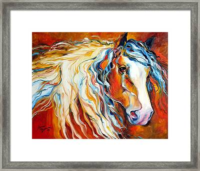 Untamed Spirit Equine Original By M Baldwin Framed Print
