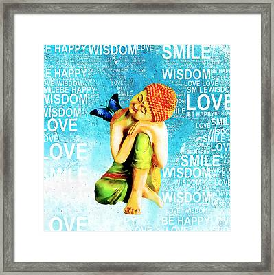 Untangle - Blue Framed Print