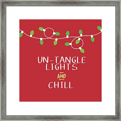 Untangle Lights And Chill- Art By Linda Woods Framed Print by Linda Woods