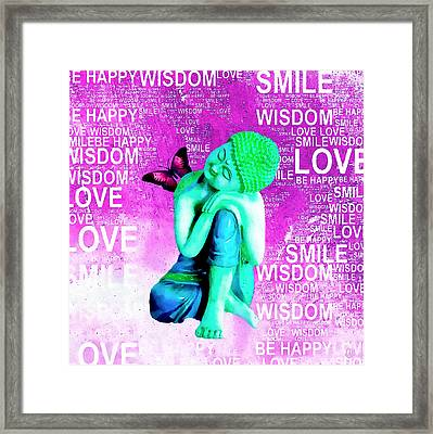 Untangle - Purple  Framed Print