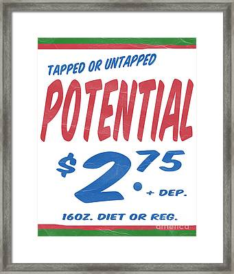 Untapped Potential Supermarket Series Framed Print by Edward Fielding