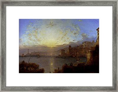 Unterberger Franz Richard Genoa Framed Print by Franz Richard Unterberger