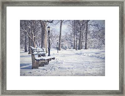 Until It Melts Away Framed Print by Evelina Kremsdorf