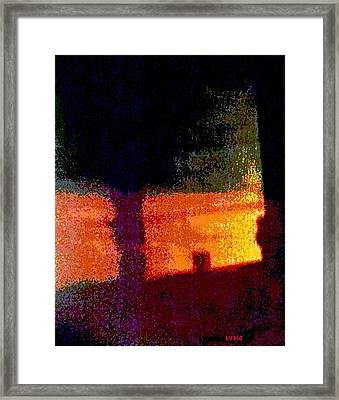Untitled 1 - By The Window Framed Print by VIVA Anderson