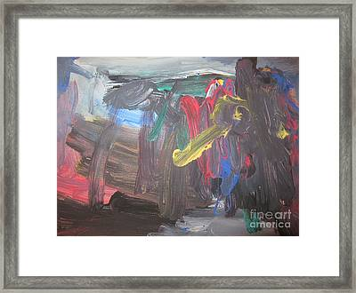 Untitled 128 Original Painting Framed Print