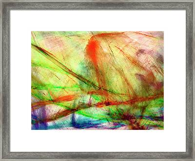 Untitled #140922, From The Soul Searching Series Framed Print
