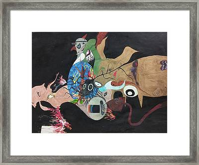 Intuitive Drawing Framed Print by William Douglas