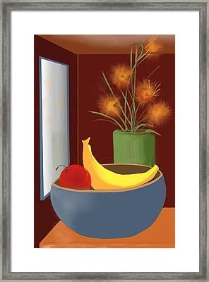 untitled 9 Floral and Fruit Framed Print by Denny Casto