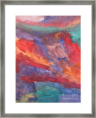 Untitled 95 Original Painting Framed Print