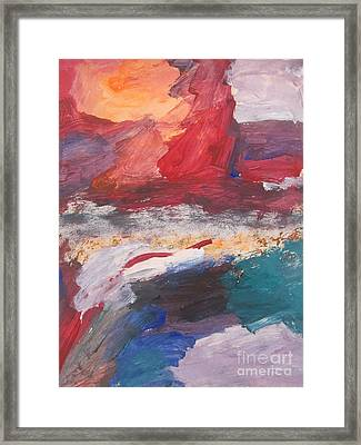 Untitled 98 Original Painting Framed Print