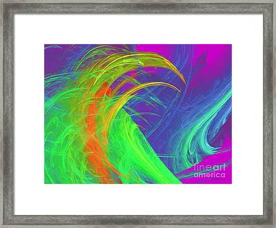 Untitled Abstract 090719-7 Framed Print by Wayne Bonney