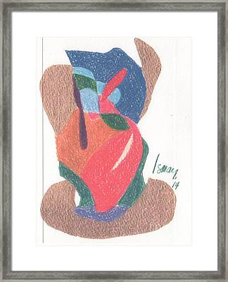 Framed Print featuring the drawing Untitled Abstract by Rod Ismay