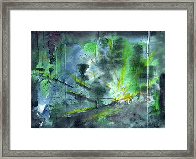 Untitled Abstract Watercolor Framed Print by Sean Seal