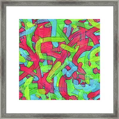 Untitled -b- Soup Framed Print by Coded Images