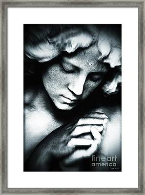 Quiet Reflection / Blue Framed Print by Elizabeth McTaggart