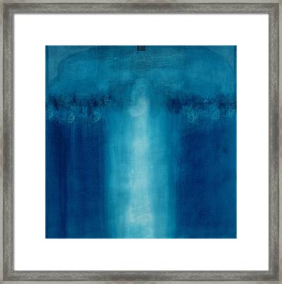 Untitled Blue Painting Framed Print by Charlie Millar