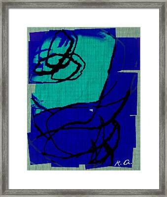 Untitled Blues 21 2 Framed Print by Rene Avalos
