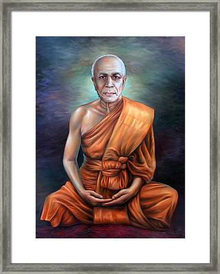 Framed Print featuring the painting Untitled by Chonkhet Phanwichien