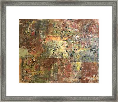 Untitled Clay Monotype Framed Print by William Renzulli