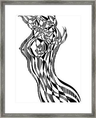 Untitled,  Female Nude Figure Framed Print