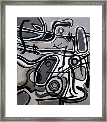 Framed Print featuring the painting Untitled Gray by Lynda Lehmann