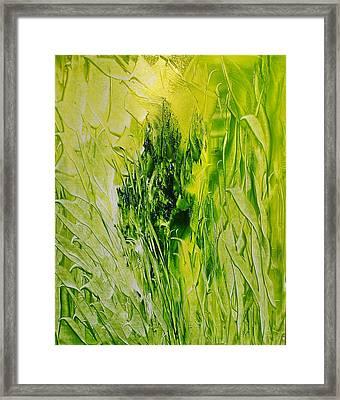 Untitled Green Framed Print by Larry Ney  II