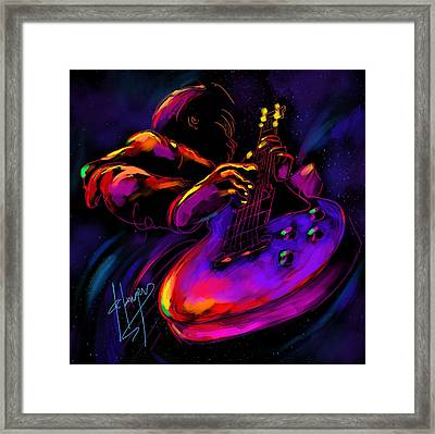 Untitled Guitar Art Framed Print