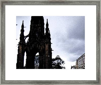 Framed Print featuring the photograph The Scott Monument by Janelle Dey