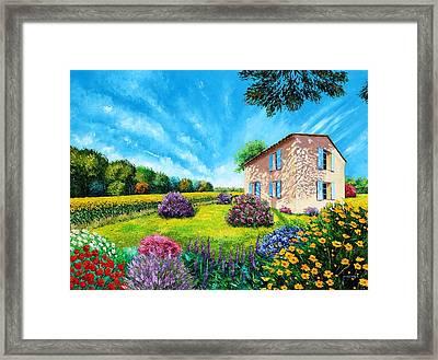 French Flowered Garden Framed Print by Jean Marc Janiaczyk