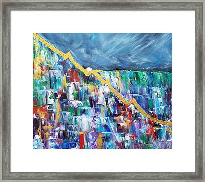 Framed Print featuring the painting Untitled by Judith Rhue