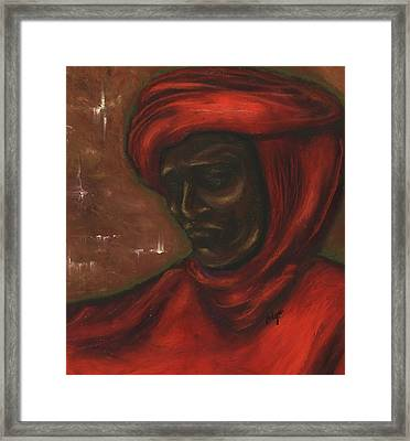 Framed Print featuring the pastel Untitled Man by Alga Washington